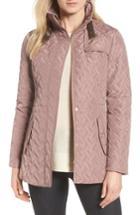 Women's Cole Haan Signature Quilted Short Coat - Pink