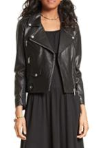 Women's Rebecca Minkoff Wes Moto Leather & Neoprene Jacket