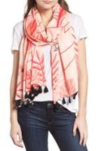 Women's Kate Spade New York Flamingo Scarf, Size - Pink