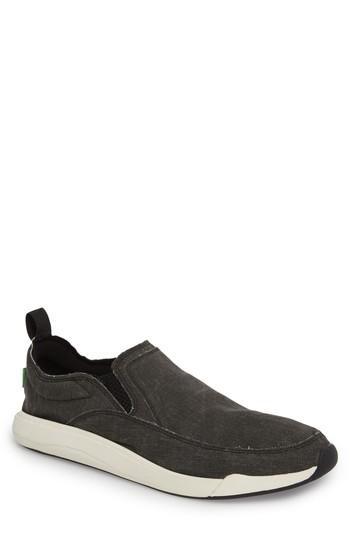 Men's Sanuk Chiba Quest Slip-on Sneaker /9 M - Black