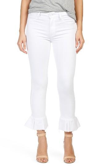 Women's Paige Rafaela High Waist Raw Hem Ankle Ultra Skinny Jeans - White