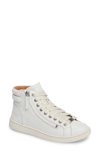Women's Ugg Olive High Top Sneaker M - White