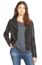 Women's Madewell Washed Leather Motorcycle Jacket