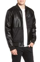 Men's Members Only Patchwork Bomber Jacket - Black