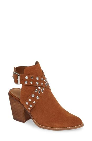 Women's Chinese Laundry Small Town Studded Bootie M - Brown