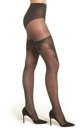 Women's Wolford Allure Tights - Black