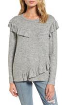 Women's Bp. Ruffle Knit Top, Size - Grey