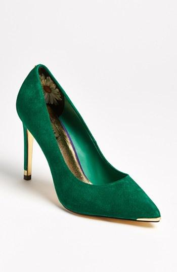 Ted Baker London 'neevo' Pump Green Suede