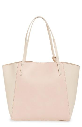 Bp. Colorblock Faux Leather Tote - Pink