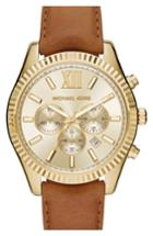 Men's Michael Kors 'lexington' Chronograph Leather Strap Watch, 44mm