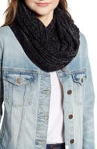 Women's Trouve Chenille Infinity Scarf, Size - Black