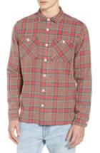 Men's Wax London Whiting Plaid Flannel Shirt - Red