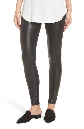 Women's Wolford Lindsey Faux Leather Leggings Us / 34 Eu - Black