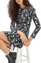 Women's Topshop Floral Ruffle Minidress