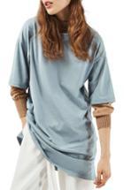 Women's Topshop Tunic Tee Us (fits Like 0) - Blue