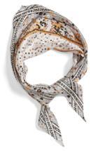 Women's Echo Ditzy Floral Silk Scarf, Size - White