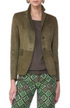 Women's Akris Punto Suede Jacket - Green