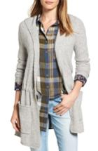 Petite Women's Caslon Hooded Cardigan P - Grey