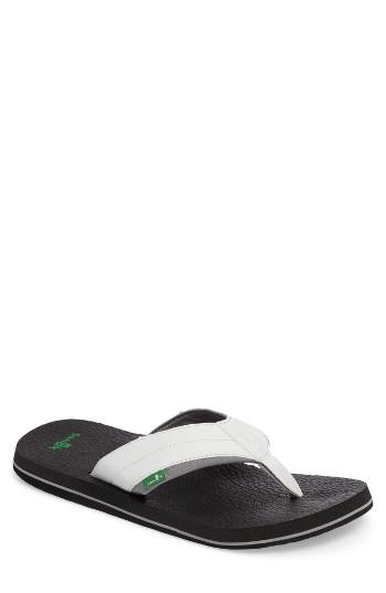 Men's Sanuk 'beer Cozy 2' Flip Flop M - White