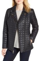Women's Kate Spade New York Bow Quilted Moto Jacket - Black