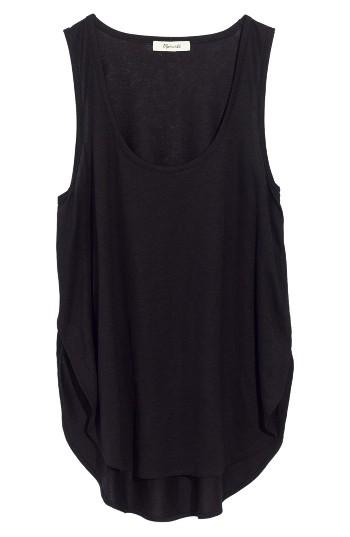 Women's Madewell Strum Crossover Tank, Size - Black
