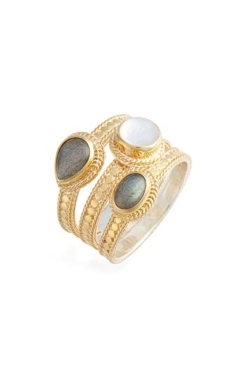 Women's Anna Beck Semiprecious Stone Triple Band Ring