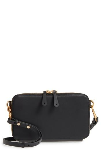 Women's Anya Hindmarch Stack Leather Crossbody Wallet - Black