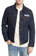 Men's Levi's Seattle Seahawks Denim Trucker Jacket - Blue