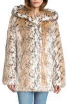 Women's Avec Les Filles Hooded Faux Fur Jacket