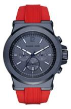 Men's Michael Kors 'dylan' Chronograph Silicone Strap Watch, 48mm