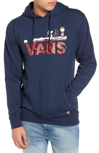 Men's Vans X Peanuts Holiday Hoodie - Blue
