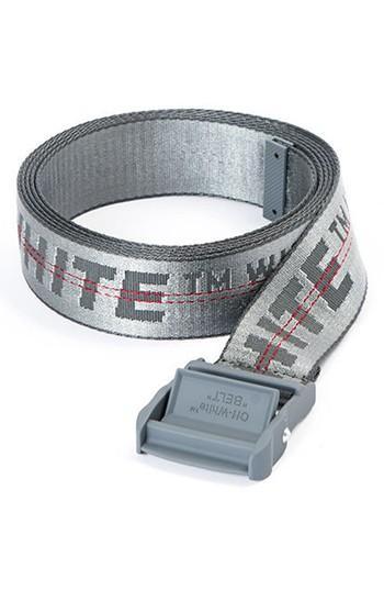 Women's Off-white Classic Industrial Belt, Size - Medium Grey