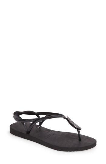Women's Havaianas Luna Sandal /38 Br - Black