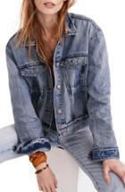 Women's Madewell Boxy Crop Jean Jacket - Blue