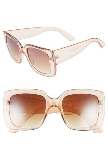Women's Bp. 50mm Translucent Square Sunglasses - Peach Clear