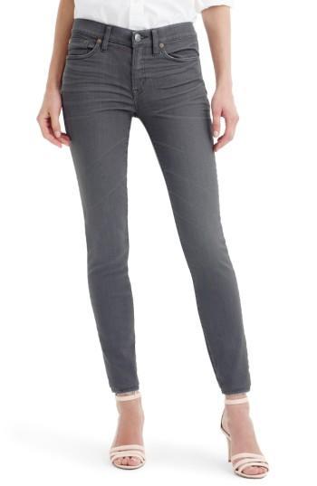 Petite Women's J.crew Toothpick Jeans P - Grey