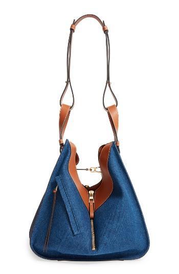 Loewe Large Hammock Denim & Leather Hobo -