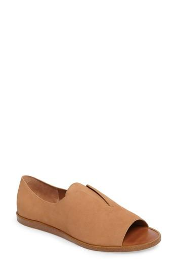Women's 1.state Cassidee Open Toe Flat .5 M - Brown