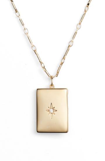 Women's Lulu Dk Poppy Locket Necklace