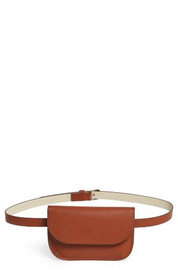 Accessory Collective Faux Leather Belt Bag - Brown