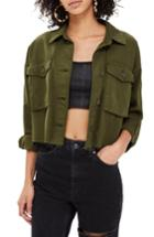 Women's Topshop Sonny Raw Hem Crop Jacket