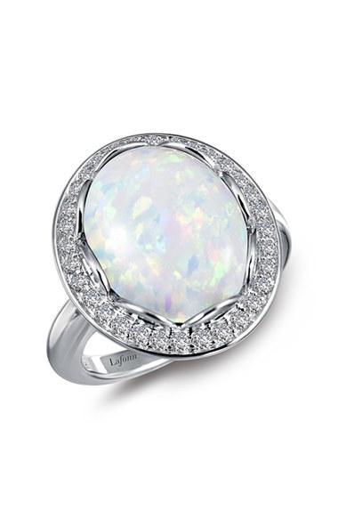 Women's Lafonn Simulated Opal Halo Ring