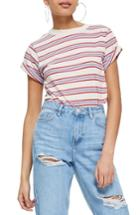 Women's Topshop Stripe Tee Us (fits Like 2-4) - Ivory