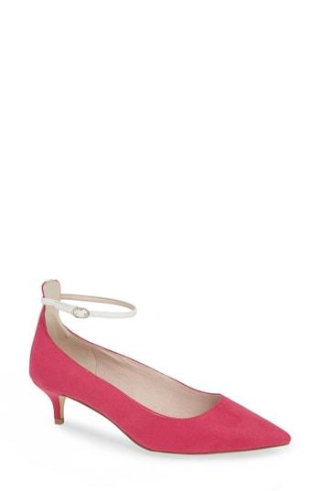 Women's Chinese Laundry Honey Ankle Strap Pump .5 M - Pink