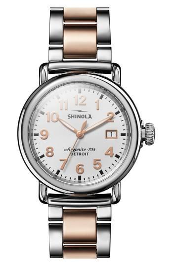 Women's Shinola The Runwell Bracelet Watch, 36mm