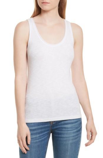 Women's Rag & Bone/jean Lara Ribbed Tank, Size - White