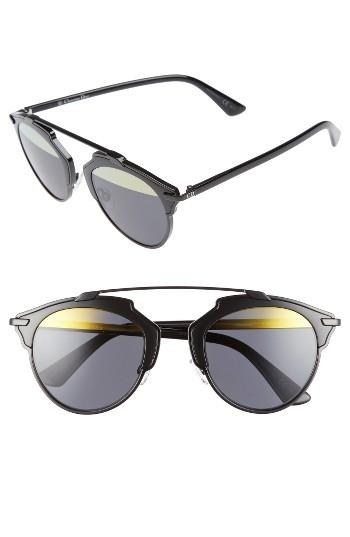 Women's Dior So Real 48mm Brow Bar Sunglasses -