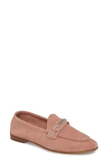 Women's Topshop Key Trim Chain Loafer .5us / 38eu - Pink