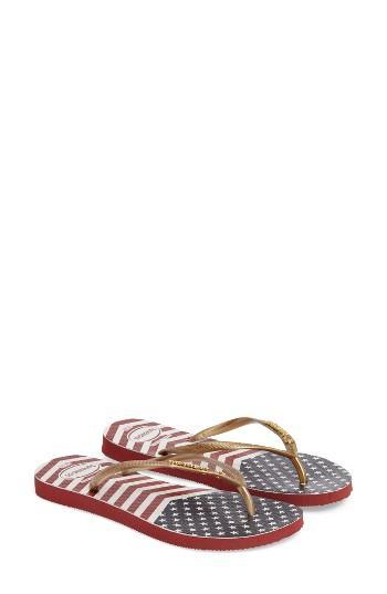 Women's Havaianas 'slim' Flip Flop /36 Br - Red