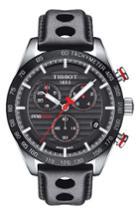 Men's Tissot Prs 516 Chronograph Leather Strap Watch, 42mm